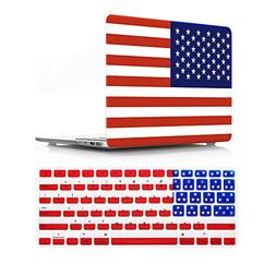 HRH 2 in 1 American USA Flag Design Laptop Body Shell Protec