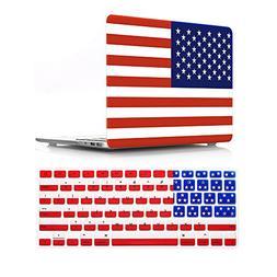 HRH 2 in 1 American USA Flag Design Laptop Body Shell Protec