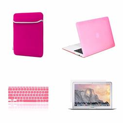 TOP CASE 4 in 1 Bundle Deal - Air 11-Inch Rubberized Hard Ca