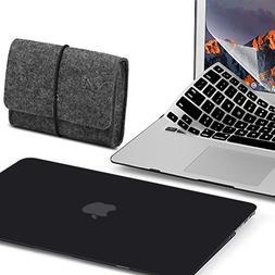 GMYLE 4 in 1 Bundle Felt Storage Pouch Bag & Black Set Soft-