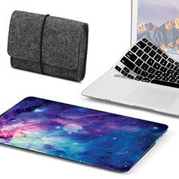 GMYLE 3 in 1 Bundle Felt Storage Pouch Bag & Galaxy Violet S