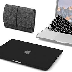 GMYLE 3 in 1 Bundle Felt Storage Pouch Bag & Black Matte Set