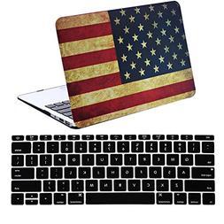 iZi Way MacBook 13 Air Case 2 in 1 Soft-Touch American/US Fl
