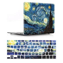 HRH 2 in 1 Starry Night Laptop Body Shell Protective Hard Ca