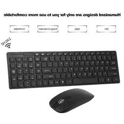 2.4 GHZ Wireless Keyboard+Keyboard Cover And Cordless Mouse