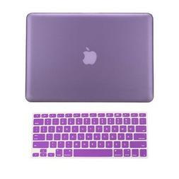 """2 in 1 Rubberized PURPLE Hard Case for Macbook PRO 15"""" A1286"""