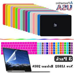 2018 For Macbook Air 13 Inch Matte Hard Case & Keyboard & Sc
