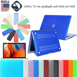 """For 2018 New MacBook Air 13.3"""" A1932 Rubberized Shell Case +"""