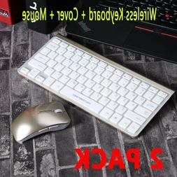 2PC Mini Wireless Keyboard & Mouse Set Combo with Cover Ultr