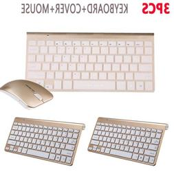 3Pack Stylish Mini Keyboard Mouse Combo Kit with Cover Ultra