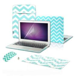 TOP CASE 5 in 1 - Chevron Hot Blue Rubberized Hard Case and