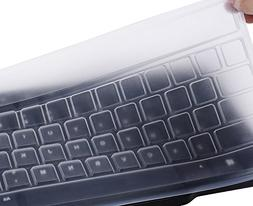 Clear Desktop Computer Keyboard Cover Skin for PC 104/107 Ke