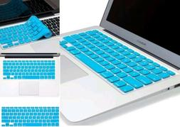 Kuzy - AQUA BLUE Keyboard Cover Silicone Skin for MacBook Pr