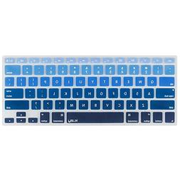 Kuzy BLUE Ombre Colors Keyboard Cover Silicone Skin for MacB