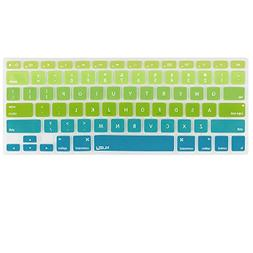 Kuzy Green/Aqua Ombre Colors Keyboard Cover Silicone Skin fo