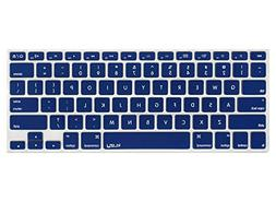 Kuzy - NAVY BLUE Keyboard Cover Silicone Skin for MacBook Pr