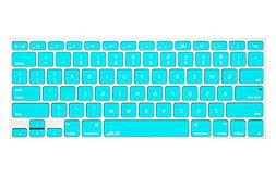 Kuzy - Neon Teal Keyboard Silicone Cover Skin for MacBook Pr