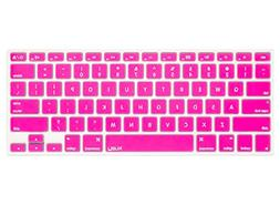 "Kuzy PINK Keyboard Cover Silicone Skin for MacBook Pro 13"" 1"