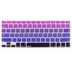 Kuzy Purple Ombre Colors Keyboard Cover Silicone Skin for Ma