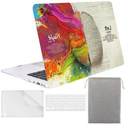 Sykiila - for Macbook Air 13 Inch Case Hard Cover 4 in 1 Fol