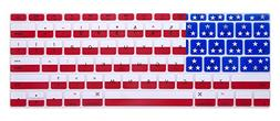 HRH American Flag Keyboard Cover Silicone Skin for New MacBo