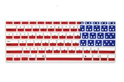 Allytech American flag Pattern Ultra Thin Durable Keyboard C