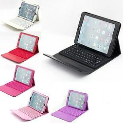 Apple iPad Air 1st 2nd Gen Wireless Bluetooth Keyboard Leath