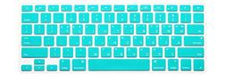 HRH Aqua Blue Korean Language Keyboard Cover Silicone Skin f
