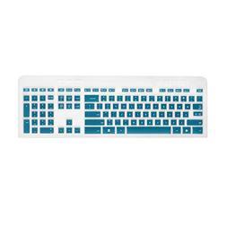 Cosmos Aqua Blue Premium Silicone Keyboard Cover Skin Case P
