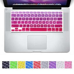 DHZ Big Font Hot Pink Gradient Keyboard Cover Silicone Skin