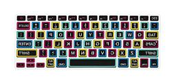 HRH Black Big Font colorful Keyboard Cover Silicone Skin for