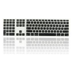 Black Ultra Thin silicone keyboard cover with numeric keypad