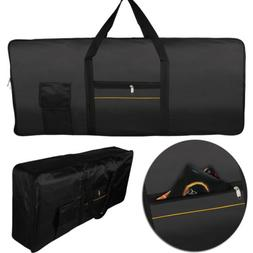 Black Elastic Dust Cover Bag for 61-Key Electronic Keyboards