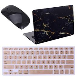 """HDE Black and Gold Marble MacBook Air 13"""" Case Hard Shell Co"""