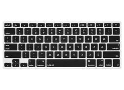 Kuzy - BLACK Keyboard Cover Silicone Skin for MacBook Pro 13