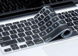 Kuzy Black Keyboard Cover Silicone Skin For Macbook Pro 13""