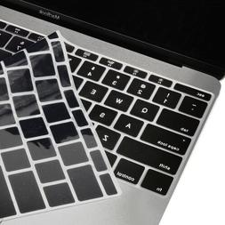 """Black Keyboard Cover Silicone Skin for New Macbook 12"""" with"""