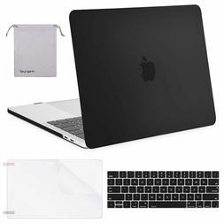Black MacBook Pro 13 Inch 4 in 1 Case Hard Shell Keyboard Co