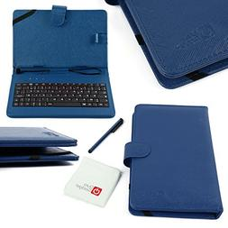 DURAGADGET Blue Faux Leather Protective Case / Cover With Mi