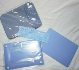 Blue TOP CASE Rubberized Hard Case & Keyboard Cover for Appl