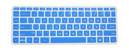 PcProfessional Blue Ultra Thin Silicone Gel Keyboard Cover f