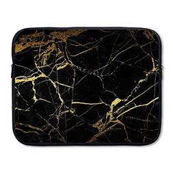 Summer Moon Fire Business Briefcase Sleeve Black Gold Marble