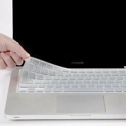 XSKN Clear Silicone Keyboard Skin Cover for Macbook Air 13 &