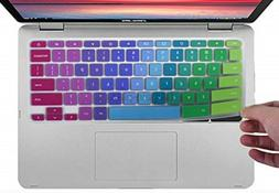 CaseBuy Colorful Keyboard Cover Compatible ASUS Chromebook 1