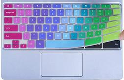 Colorful Keyboard Cover for 2018/2017 Newest Samsung Chromeb