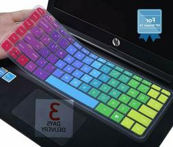 Colorful Keyboard Cover for HP Stream 14 inch Laptop/ 2018 2