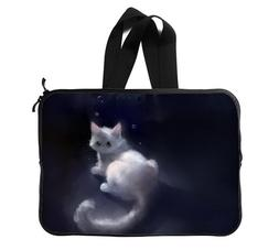 Cute Anime Cat Black and White Protective Laptop Sleeve 13 I
