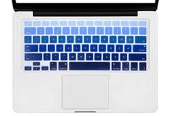 DHZ Dark Blue Gradient Ombre Keyboard Cover Silicone Skin fo