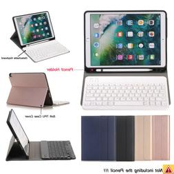 Detachable Keyboard+Soft TPU Case Cover+Apple Pencil Holder