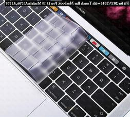 DHZ Ultra Thin Transparent Keyboard Cover Skin for MacBook P